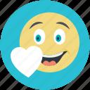 emoji, emoticon, happy smiley, in love smiley, smiley