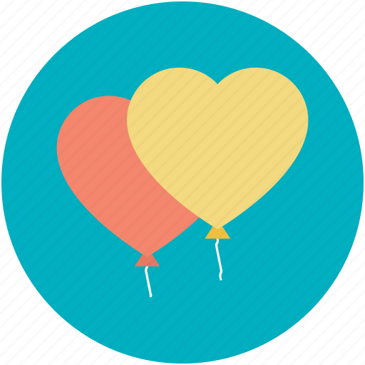 birthday balloon, decoration balloon, heart balloon, party balloon, party decorations icon