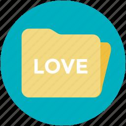 folder, love folder, romantic music, romantic songs, wedding memories icon