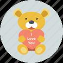 heart sign, love teddy, teddy, teddy bear, toy teddy
