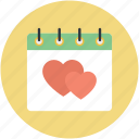 14 february, february calendar, heart calendar, valentine day, wall calendar