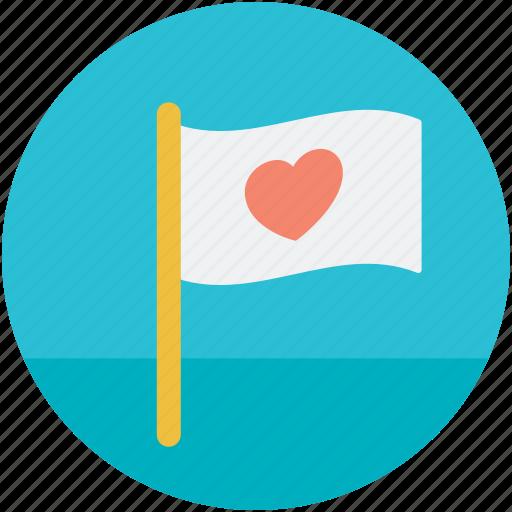 feelings, flag, heart sign, love theme, sentimental icon