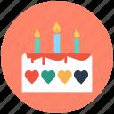 cake, dessert, valentine cake, bakery food, wedding cake