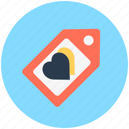 commercial tag, label, love tag, price tag, shopping tag icon