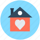 happy family, happy home, heart sign, house, love home icon