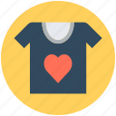 clothes, clothing, fashion, shirt, t-shirt, valentine shirt icon