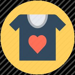 clothes, clothing, fashion, shirt, t-shirt, valentine shirt icon