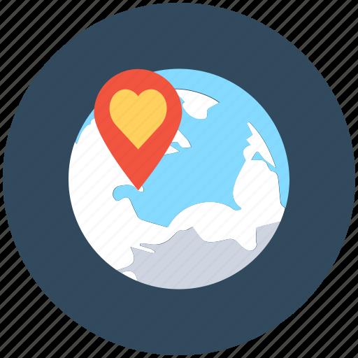 favorite location, heart, location marker, love pin, map pin icon