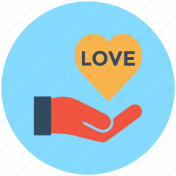 hand, heart, heart care, heart in hand, love care icon