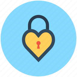 heart lock, love inspiration, privacy, romantic, secret feelings icon