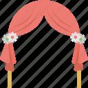 outdoor wedding decoration, outdoor wedding decorations, wedding altars decorations, wedding arbors, wedding arches icon