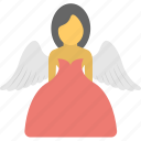 angel, angel girl, christmas angel, dream girl, fairy icon