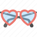 fashion glasses, heart glasses, heart shaped glasses, heart sunglasses, red frame eyeglasses icon
