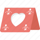 gift card, greeting card, romantic card, valentine card, valentine greeting icon