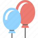 balloons, birthday balloons, celebration, decoration element, party balloons icon