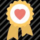 award badge, heart award, heart award badge, love concepts, valentine day concepts icon