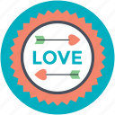 affection, love, love sign, love sticker, passion, romance icon