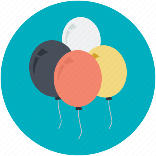 balloons, birthday balloons, decoration balloons, party balloon, party decorations icon