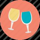 celebration, champagne glasses, cheers, toasting, wine glasses
