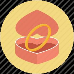 jewellery box, ring box, ring case, valentine ring, wedding ring icon