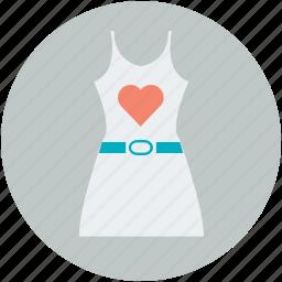 heart, sundress, valentine dress, valentine gift, woman dress icon