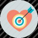 arrow, heart, heartbreak, hurt, love target