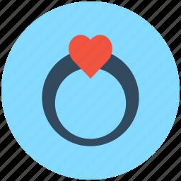 gem ring, heart ring, jewel ring, ring, wedding ring icon
