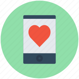 heart sign, love chatting, love message, mobile screen, online love icon