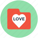 folder, heart folder, love folder, romantic movies, romantic songs icon