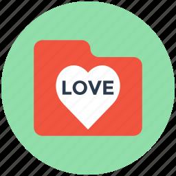folder, heart folder, love folder, romantic movies, romantic songs icon