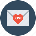 envelope, letter, love letter, valentine card, valentine greeting icon