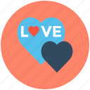 hearts, love, love sign, love sticker, romance icon