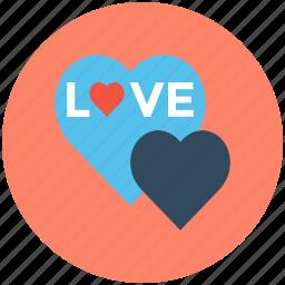hearts, love, love sign, love sticker, romance icon