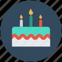 birthday cake, cake, cake with candles, celebration, valentine cake