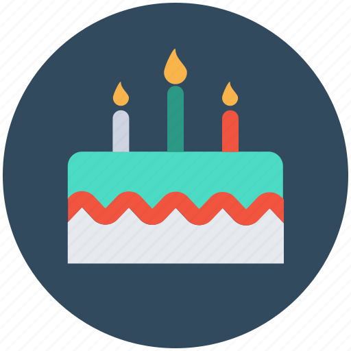 birthday cake, cake, cake with candles, celebration, valentine cake icon