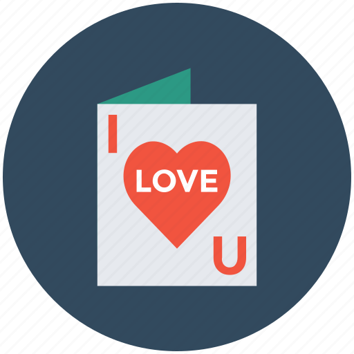 i love you, love card, valentine card, valentine greeting, valentine wishes icon