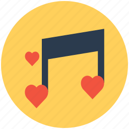 heart, hearts, music, music note icon