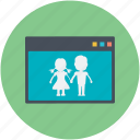 online love, online romance, chatting, online couple, online dating icon