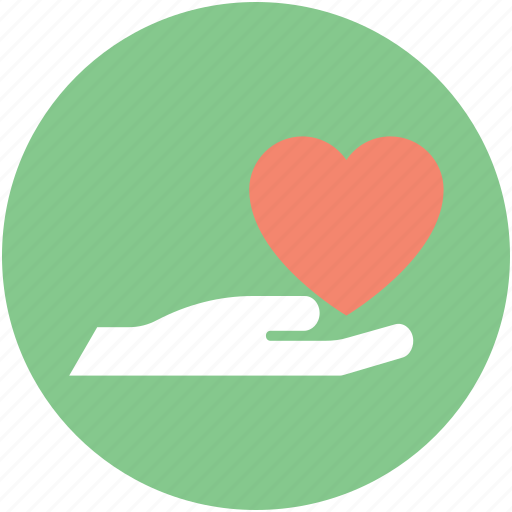 Hand, heart, heart care, heart in hand, love care icon - Download on Iconfinder