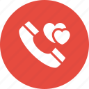 call, chat, communication, love, phone, romantic, talk icon