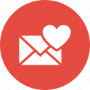 correspondence, envelope, letter, love icon