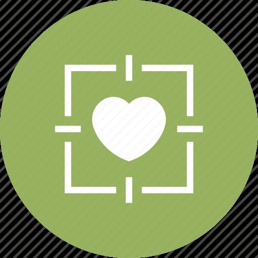favorite, heart, love, romantic, target icon