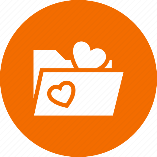 file, folder, heart, like, love, loving, marriage icon