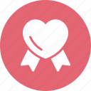 heart, insignia, love, ribbon icon
