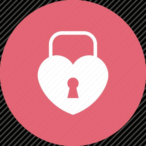 heart, key, lock, love, loving, romance, wedding icon