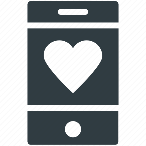 heart sign, love sign, love symbol, mobile screen, mobility icon