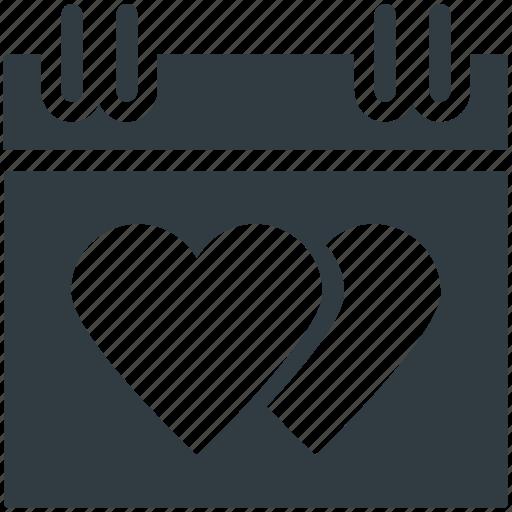 dating, hearts calendar, love inspiration, wedding anniversary, wedding day icon