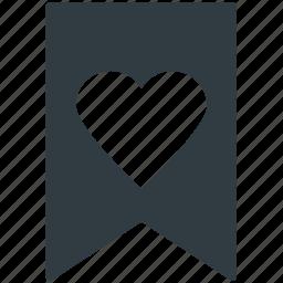 decoration, festive, heart ribbon, heart shape, valentine day icon