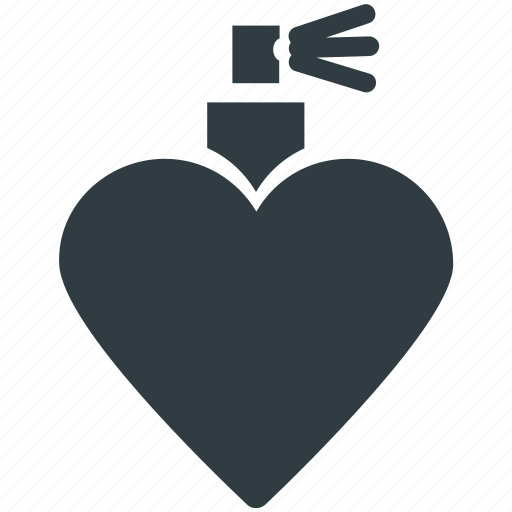 fragrance, heart shaped, love perfume, perfume, scent icon
