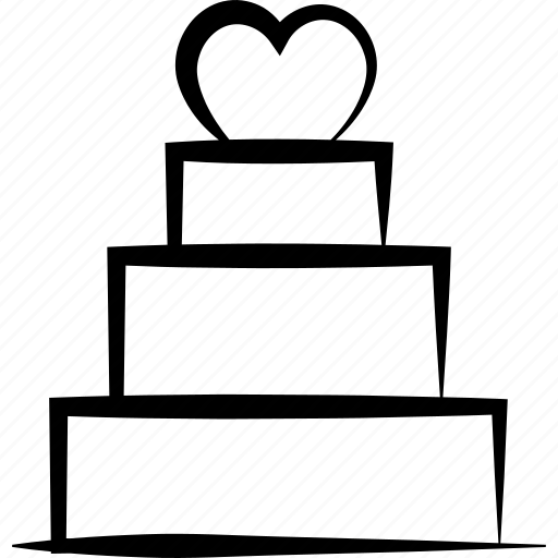 cake, dessert, lovecake, romanticcake, valentinecake icon